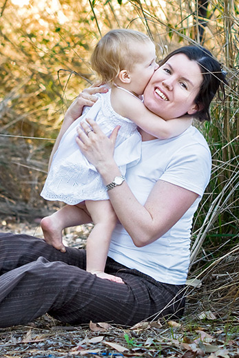 Jo Reynolds, Adelaide and Sydney newborn baby portrait specialist with her daughter Grace